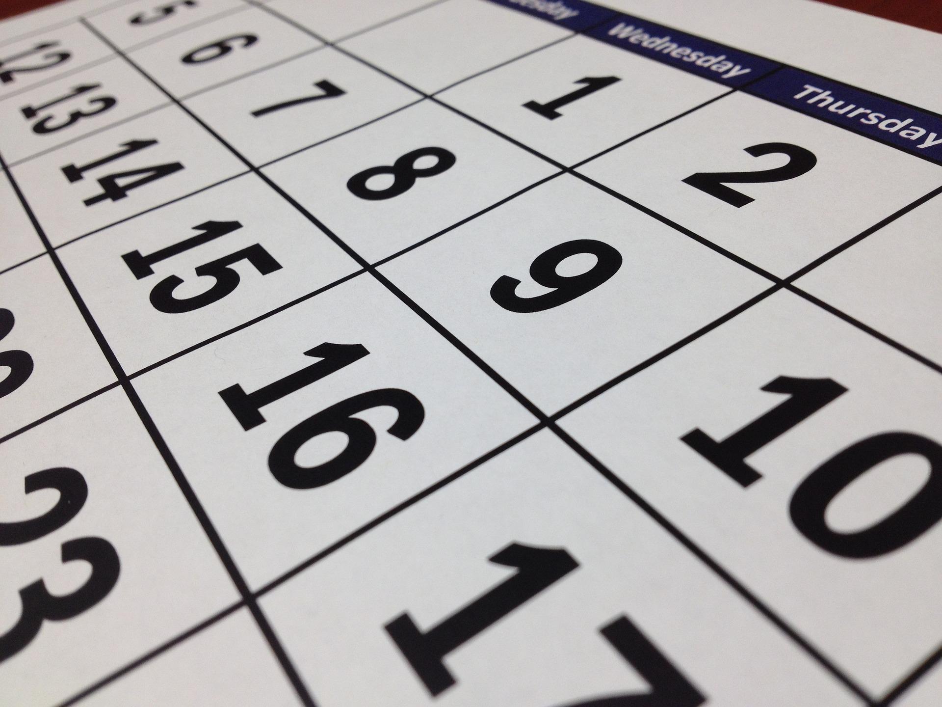 Calendario fiestas laborales 2020 – Región de Murcia