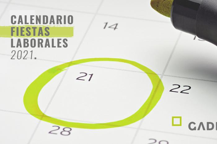 Calendario fiestas laborales 2021